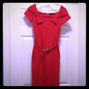 Gorgeous Red River Island Vintage Style Tube Dress